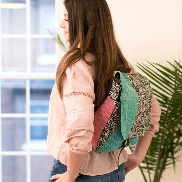 Convertible Sari Backpack - do good shop ethical gifts
