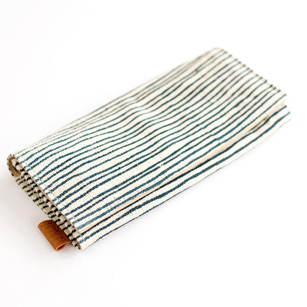 hand spun hand woven cotton slim clutch wallet ethical handmade for do good shop
