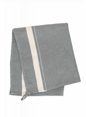 Tea Towel in Olive Chevron