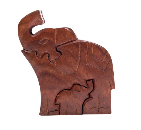 Mama Elephant and Baby Puzzle Box