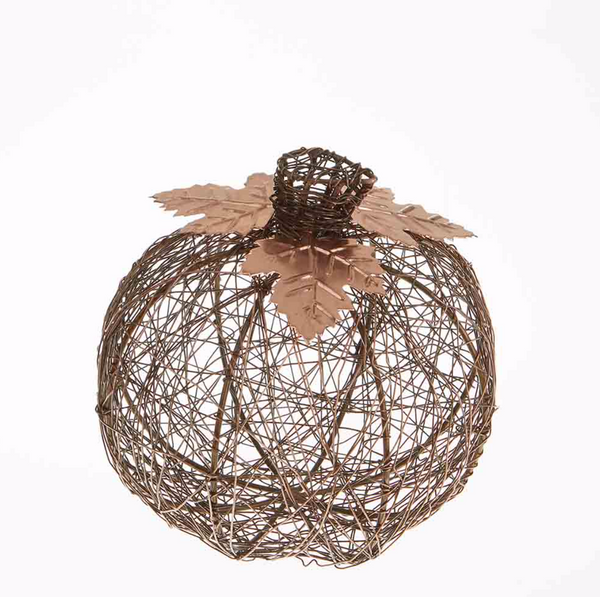 Copper Wire Wrapped Pumpkin Fall Decor - do good shop ethical gifts