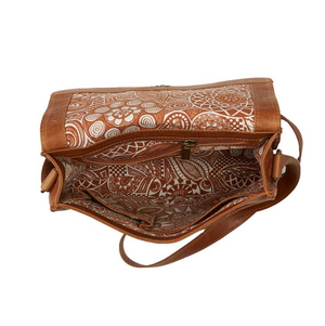 Fully Lined Leather Crossbody Bag - do good shop ethical gifts