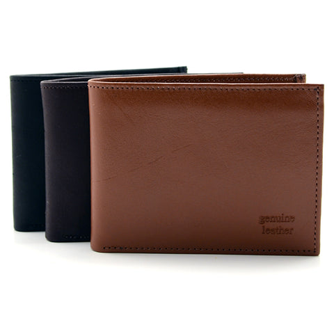 Genuine Leather Bifold Wallet