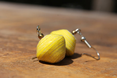 Paper Bead Earrings - do good shop ethical gifts