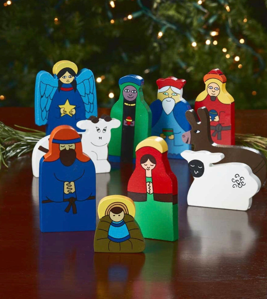 Wooden Block Nativity - do good shop ethical gifts