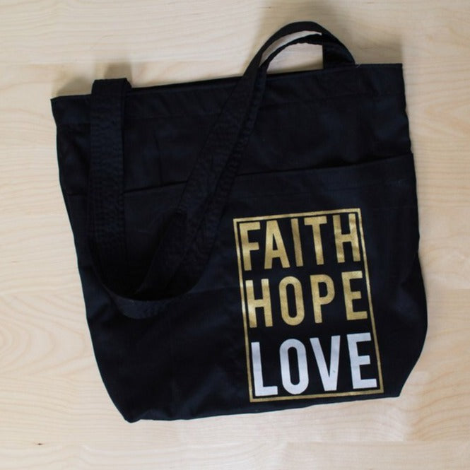 Book Bag with Pockets - do good shop ethical gifts