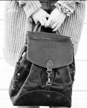 Genuine Leather Backpack Shoulder Bag - do good shop ethical gifts