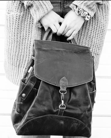Genuine Leather Backpack Shoulder Bag - do good shop