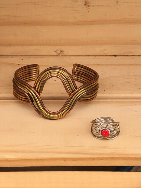 Scroll Pattern Adjustable Ring - do good shop ethical gifts
