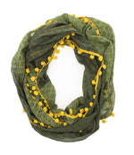 Ombré Pom Infinity Scarf - do good shop ethical gifts
