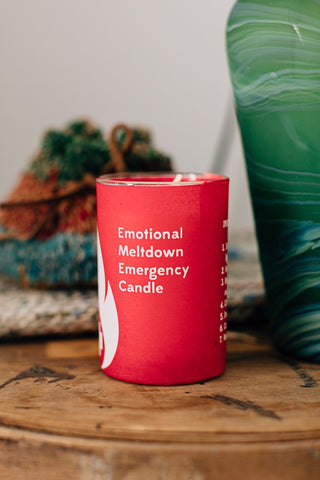 Emergency Emotional Meltdown Candle - do good shop ethical gifts