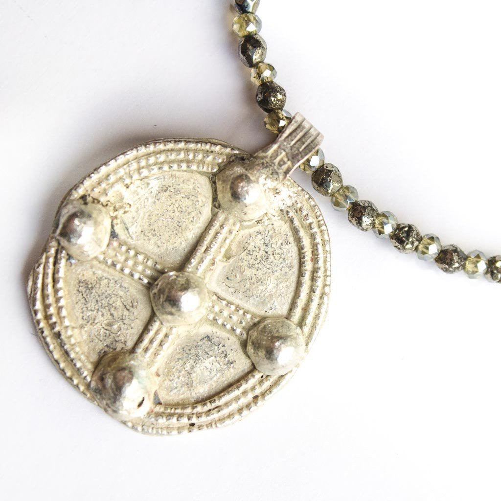 Pyrite Pendant Necklace