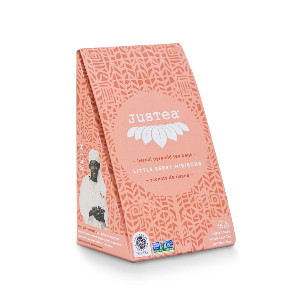Little Berry Hibiscus Pyramid Teabags - do good shop ethical gifts