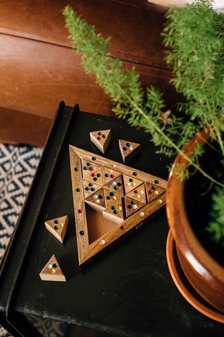 Triangle Tile Puzzle Game - do good shop ethical gifts