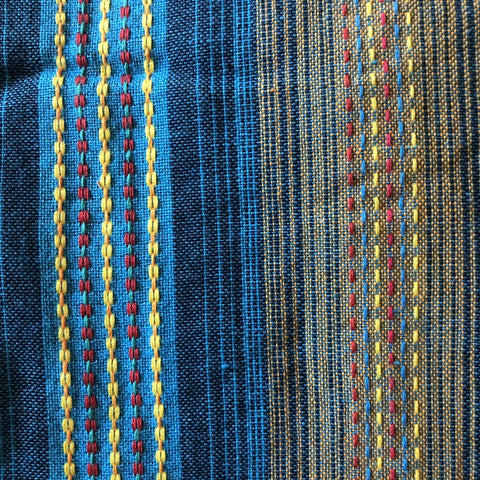 cotton.striped.blue.dress.pockets.wrap.around.womens.ethical.fashion.close.up