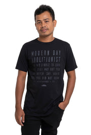 Black on Black Quote Shirt - do good shop ethical gifts