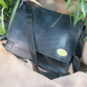 Upcycled Tire Messenger Bag - do good shop ethical gifts