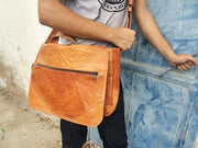 Genuine Goat Leather Messenger Bag - do good shop ethical gifts