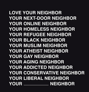 Love Your Neighbor Short Sleeve Tee Shirt (women's cut) - do good shop