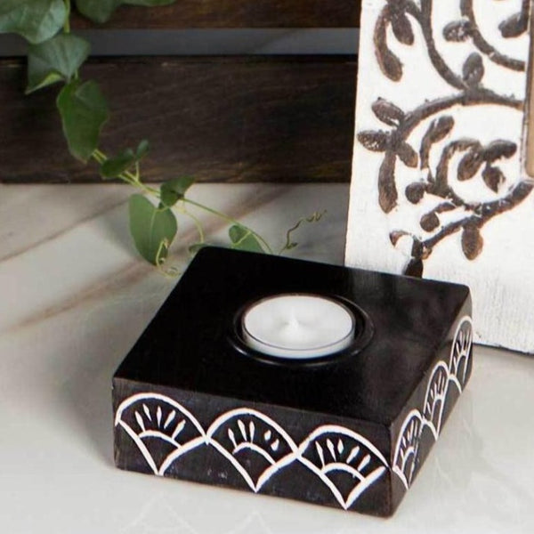 Handcrafted Mango Wood Tealight Holder