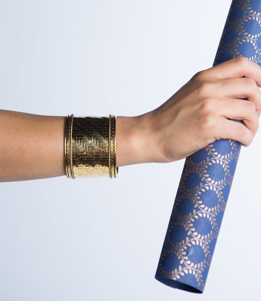 Gold Weave Cuff - do good shop ethical gifts