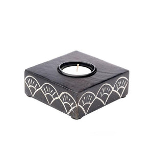Handcrafted Mango Wood Tealight Holder - do good shop ethical gifts