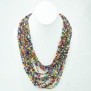 Cascading, Hand-Beaded Ugandan Necklace