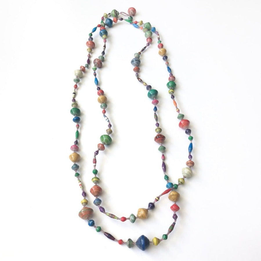 Variety of Kenya Handmade Beaded Necklaces from Nairobi