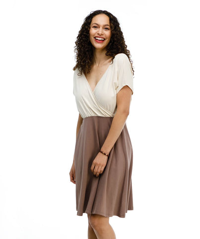 Organic Cotton V-neck Dress - do good shop ethical gifts