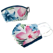 Mask and Zipper Pouch Set - Pink Tropical