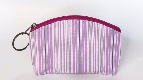 Mask and Zipper Pouch Set - Purple Stripes