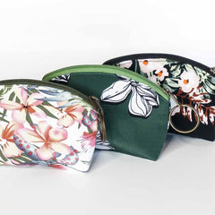 Mask and Zipper Pouch Set - Green Floral