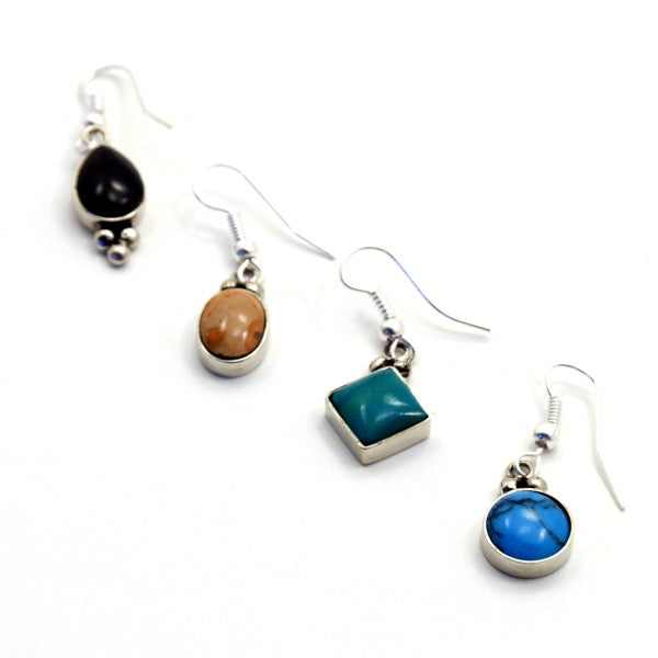 Semi-Precious Stone Drop Earrings - do good shop ethical gifts