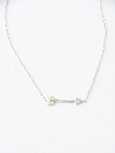 .925 Sterling Silver Arrow Necklace - do good shop ethical gifts
