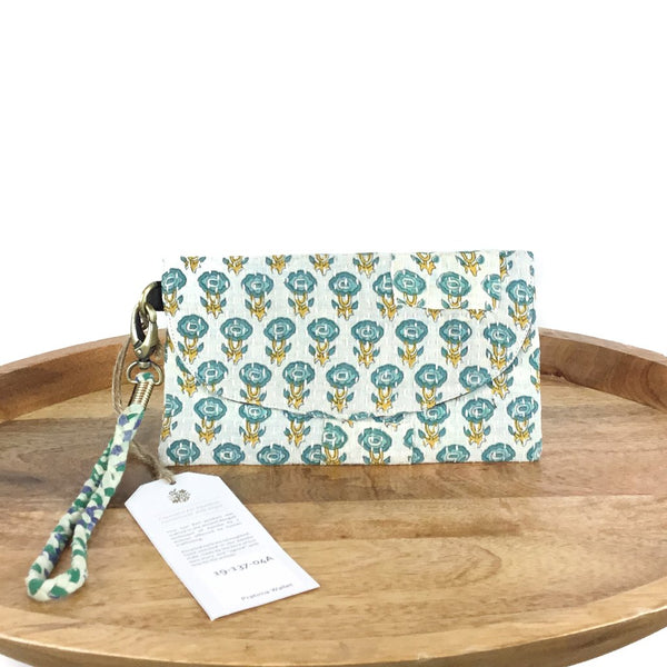 Wristlet Upcycled Sari Clutch - do good shop ethical gifts
