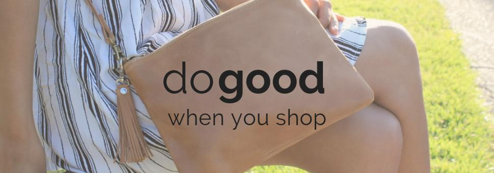 do good when you shop ethically at do good shop leather crossbody purse