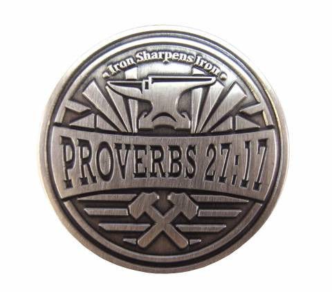 Iron Sharpens Iron Proverbs 27 Coin