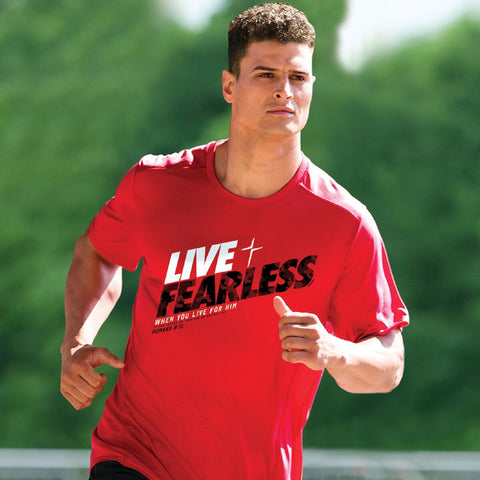 Live Fearless Mens Active T-Shirt ™