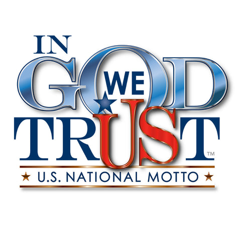 In God We Trust Inside Window Cling
