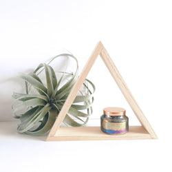 Painted Wood Triangle Shelf Without Inside Shelf - Wood Creek