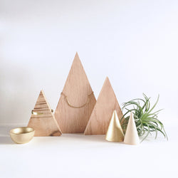 Wood Triangle Necklace Display - Wood Creek