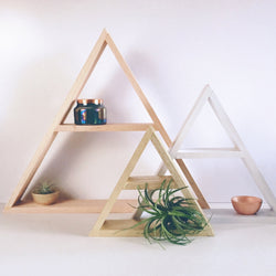 Painted Wood Geometric Shelving - Wood Creek