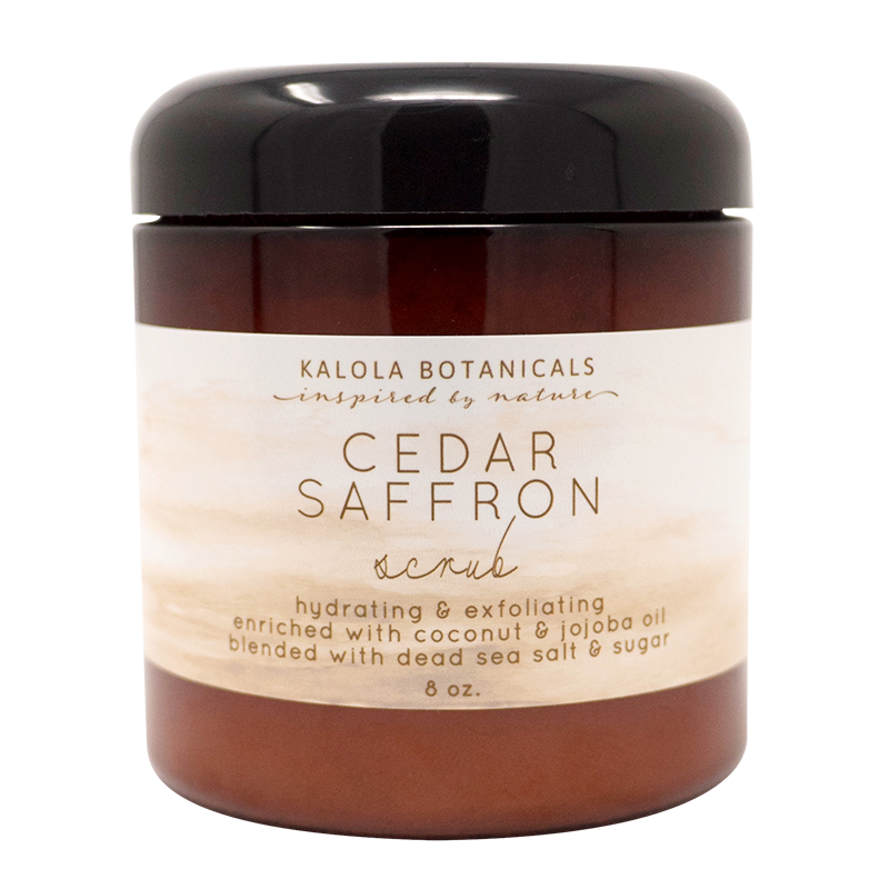 Cedar and Saffron Scrub
