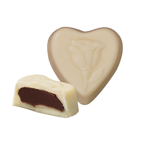 White Chocolate Mousse Heart Minuettes 8 oz. Box