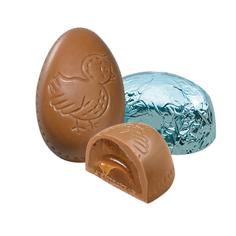 Milk Carmel Foiled Mini Egg 8oz. Gift Box