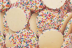 White Chocolate Multi Color Nonpareils