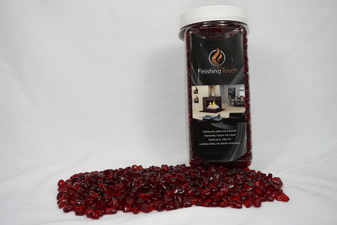 Scarlet Red Fireglass Pebbles