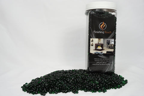 Forest Green Fireglass Pebbles