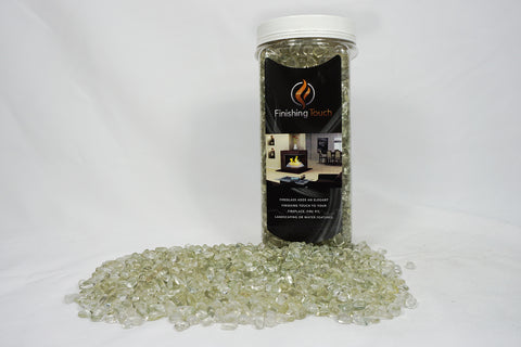Crystal Ice Fireglass Pebbles