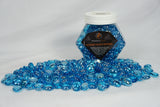Aqua Metallic Flat Beads Fireglass